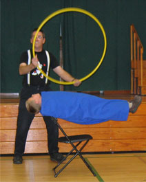 Stage Magic Show: Arroyo Grande, CA assembly.