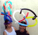 Balloon hats are a hit at San Luis Obispo parties!