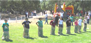 Relay Games for a Santa Maria company picnic.