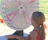 Wheel of Chance Game.