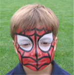 Spiderman is just one of our Superhero faces.