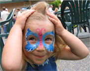 Face Painters love getting butterfly requests!