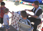 Face Painting booth in Santa Maria.
