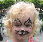 Face Painting at a San Luis Obispo picnic.