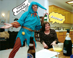 The Court Jester is the most popular character.